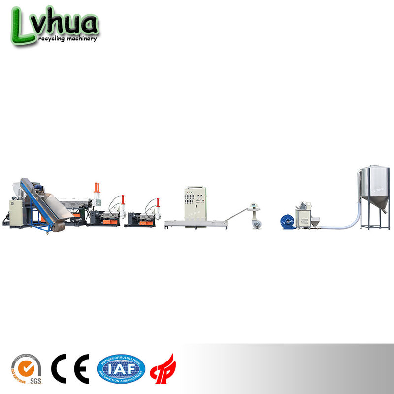 3 - 8T Weight PP Plastic Recycling Machine / Plastic Recycling Line 10 * 2 * 3M